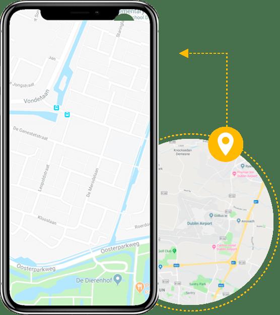 ردیابی تلفن همراه روی نقشه بدون نیاز به GPS رایگان