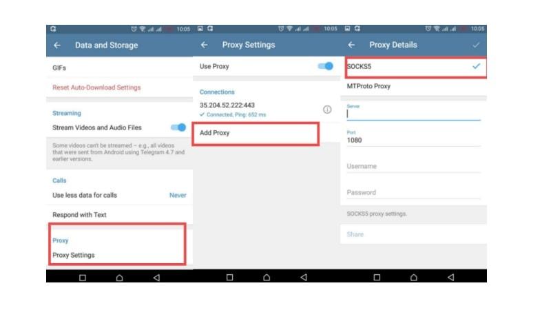 بررسی فایروال برای حل مشکل وصل نشدن تلگرام
