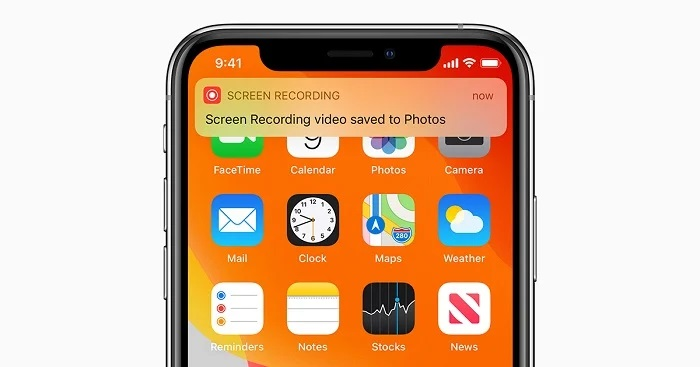 فیلم گرفتن از صفحه گوشی در iOS و iPadOS